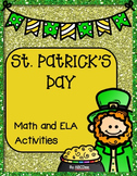 St. Patrick's Day Math and ELA Activities