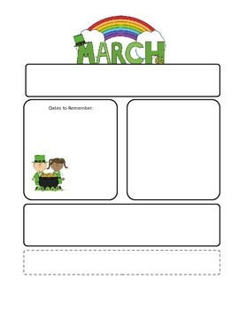 March St. Patrick's Day Newsletter