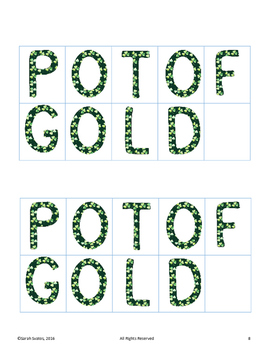 March & St. Patrick's Day Puzzles!  How many words can you make?