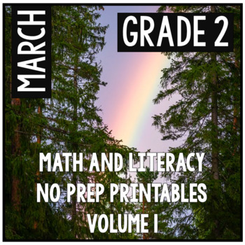 March St. Patrick's Day Second Grade Math and Literacy NO PREP Common Core