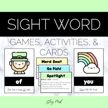 March / St. Patrick's Day Sight Word Cards
