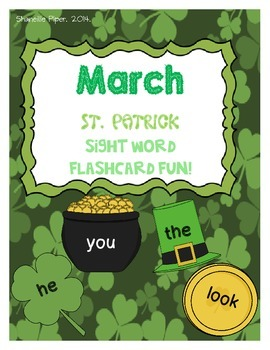 March St. Patrick's Day Sight Word Flashcard Fun