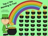 """March St. Patrick's Day """"Top o' the Morning"""" SMART Board A"""