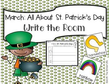 March St. Patrick's Day Write the Room + 2 Bonus Activities