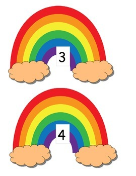 March St. Patrick's Day writing numbers counting COMMON CORE rainbows 1-120