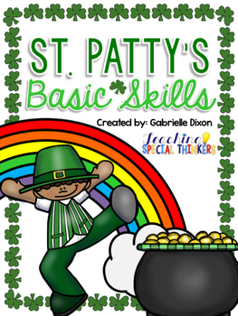 March St. Patty's Day Basic Skills Activity Pack for Students with Autism