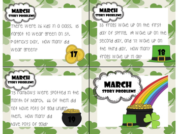 March Story Problems