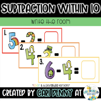March Subtraction Write the Room