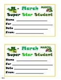 March Super Star Student Award