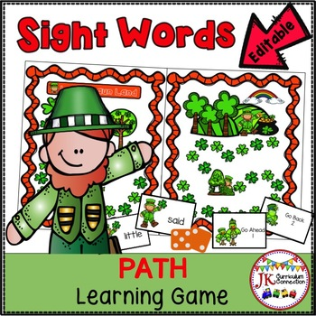 St Patrick S Day Sight Word Game Leprechaun Land EDITABLE TpT