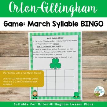 March Syllable BINGO