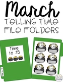 March Telling Time File Folders for Special Education
