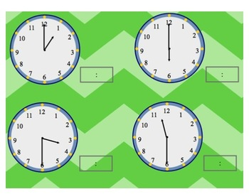 March Telling Time - Hour and Half Hour