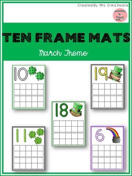 March Ten Frame Mats 1-20