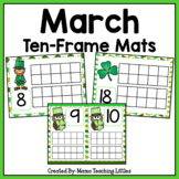 March Ten Frame Mats Numbers 1-20 (St. Patrick's Day)