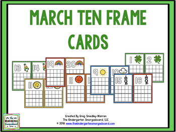 March Ten and Twenty Frames!  A Common Core Math Creation!