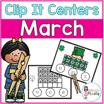 March Tens Frame Clip It Centers
