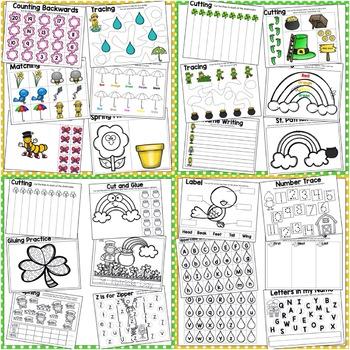March Theme Preschool Bundle