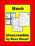 March Sentence Unscramble