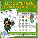 March Themed Adapted Unit for Autism Units or Early Elem. (Math, ELA & Writing)