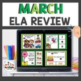 March Themed Boom Cards Bundle ELA