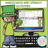 March Themed Interactive Google Slides with Math and Liter