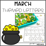 March Themed Sensory Bin Letters