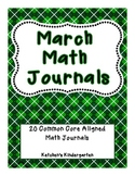 March Themed Math Journals--Common Core Aligned