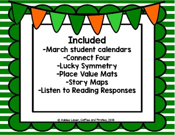 March Themed Math and Literacy Activities
