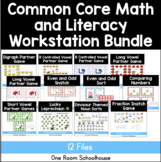 11 Common Core Math and Literacy Workstations for 1st Grade