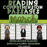 March Themed Reading Passages with Common Core Aligned Questions