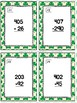 March Themed Subtracting Across 0's Task Cards & Game