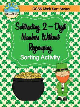 March Themed Subtraction Without Regrouping Sorting Activity & SCOOT Game