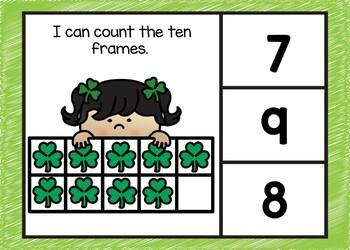 March Themed Ten Frame Digital Task Cards Boom