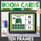 March Themed Ten Frame Digital Task Cards Boom