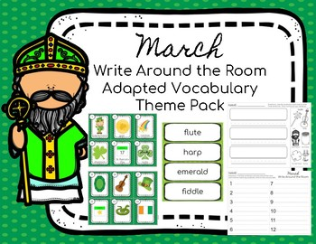 March Themed Vocabulary Write Around the Room