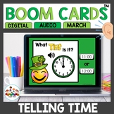 March Time to the hour and half hour Boom Cards