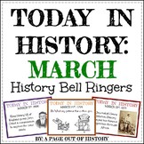 March Today in History Bell Ringers (EDITABLE)