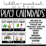 March Toddler and Preschool Play Calendars