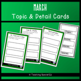 March Topic and Detail Cards
