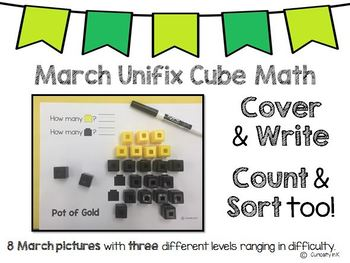 March Unifix Cube Math