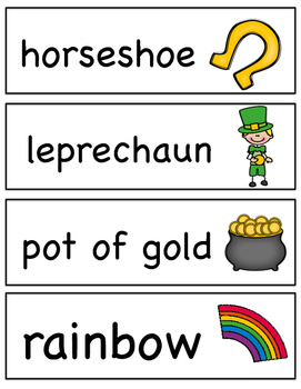 St. Patrick's Day Vocabulary