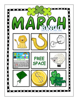 March Vocabulary Bingo