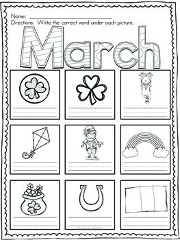 March Vocabulary Cards