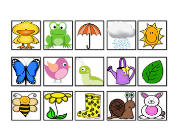 Spring Vocabulary Cariboo Cards