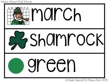 March Vocabulary Unit- Boardmaker