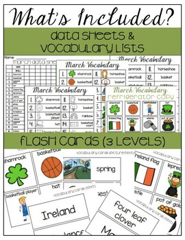 March Vocabulary Unit-  for Students with Special Needs