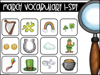 March Vocabulary {Vocabulary Cards, Mini-Reader, Activities}