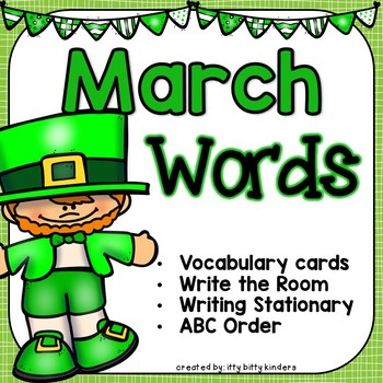 March Vocabulary Words