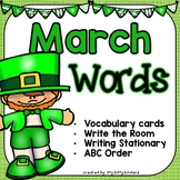 March Words - Vocabulary Cards